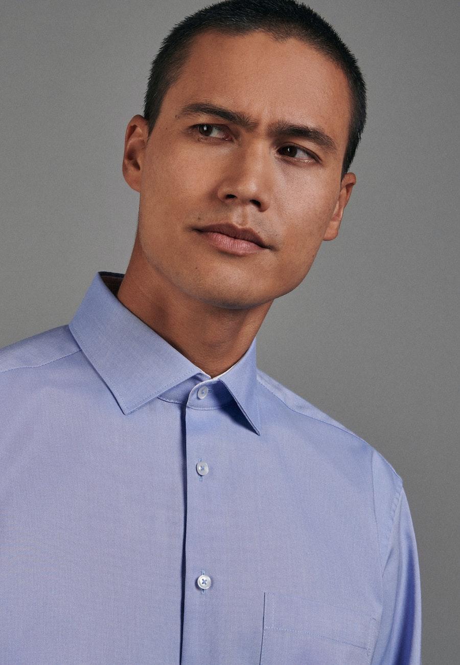 Non-iron Oxford Business Shirt in Comfort with Kent-Collar in Light blue |  Seidensticker Onlineshop