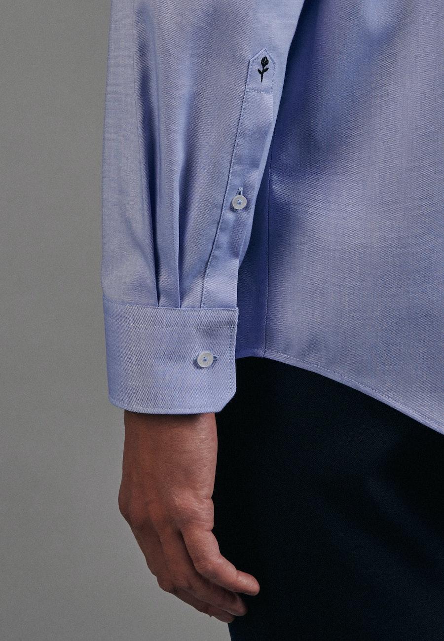 Bügelfreies Oxford Business Hemd in Comfort mit Kentkragen in Hellblau    Seidensticker Onlineshop