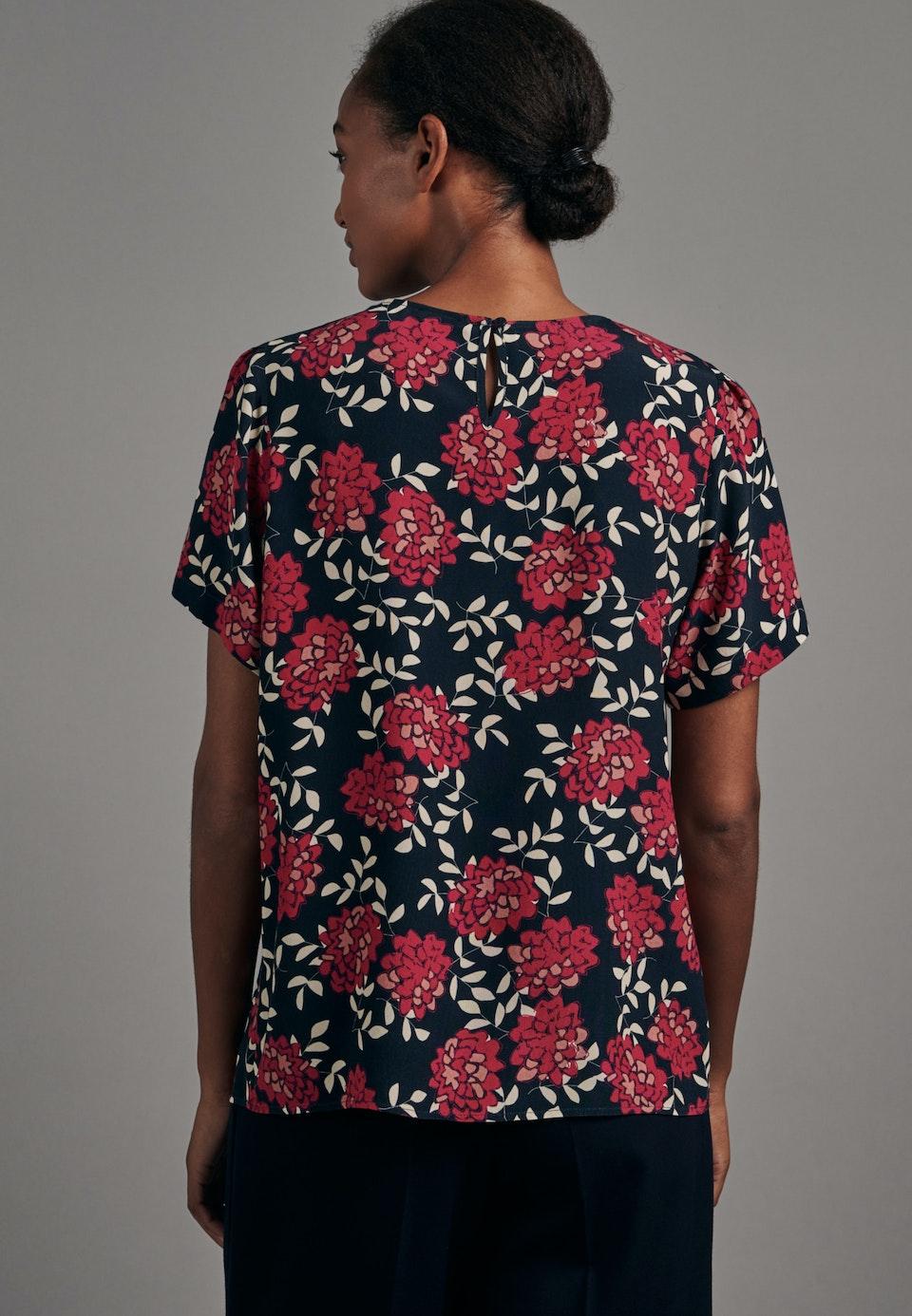 Short sleeve Krepp Shirt Blouse made of 100% Viscose in Dark blue |  Seidensticker Onlineshop