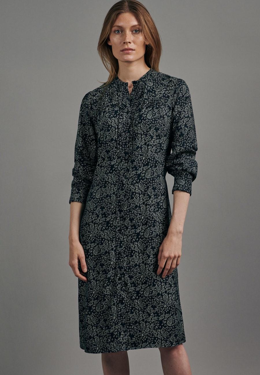 Krepp Midi Kleid aus 100% Viskose in Dunkelblau    Seidensticker Onlineshop