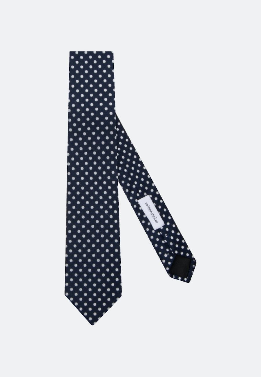 Tie made of 100% Silk 7 cm wide in Dark blue    Seidensticker Onlineshop