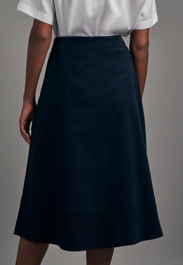 Cord Midi Skirt made of 100% Cotton in Dark blue    Seidensticker Onlineshop