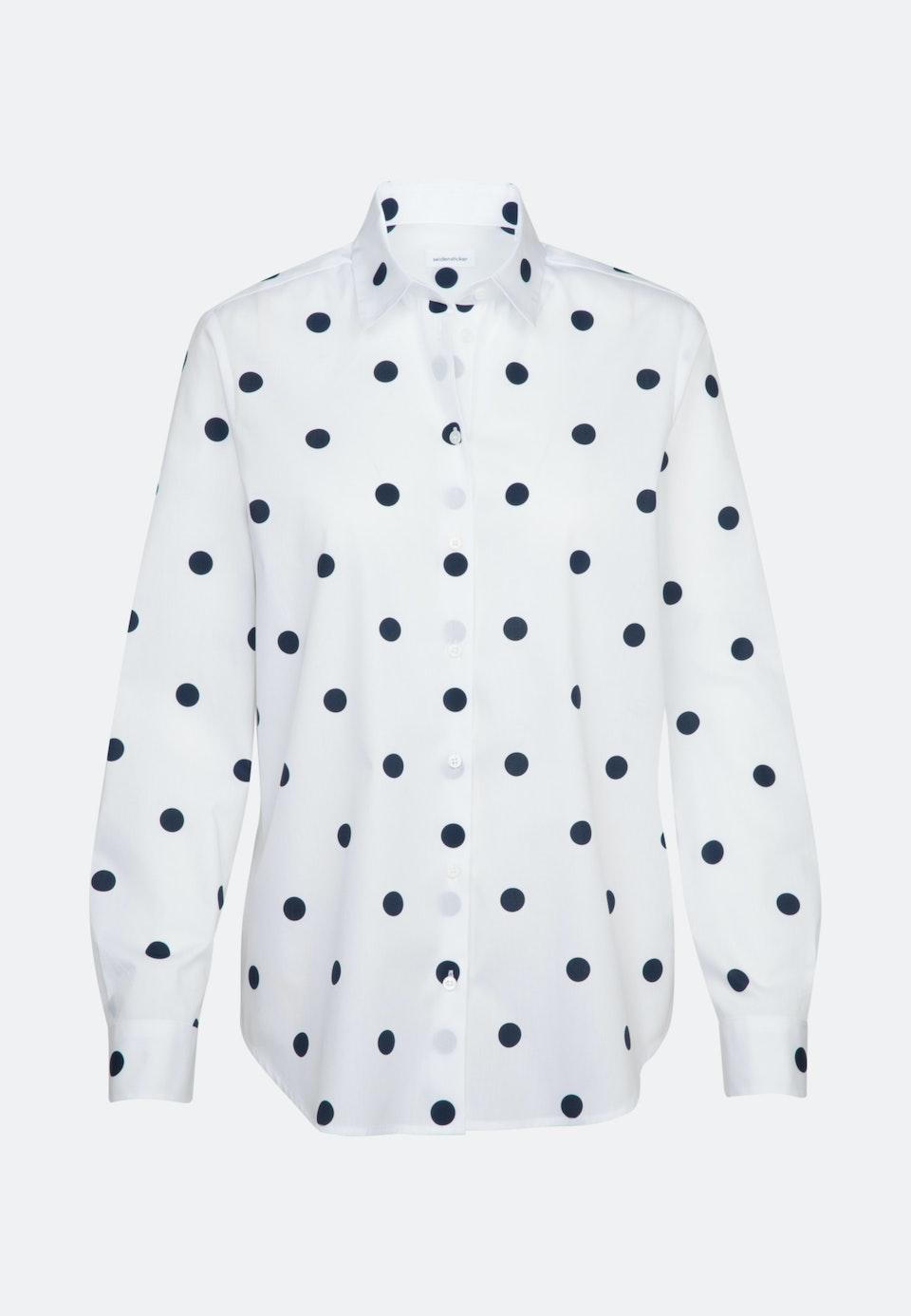 Popeline Shirt Blouse made of 100% Cotton in White |  Seidensticker Onlineshop