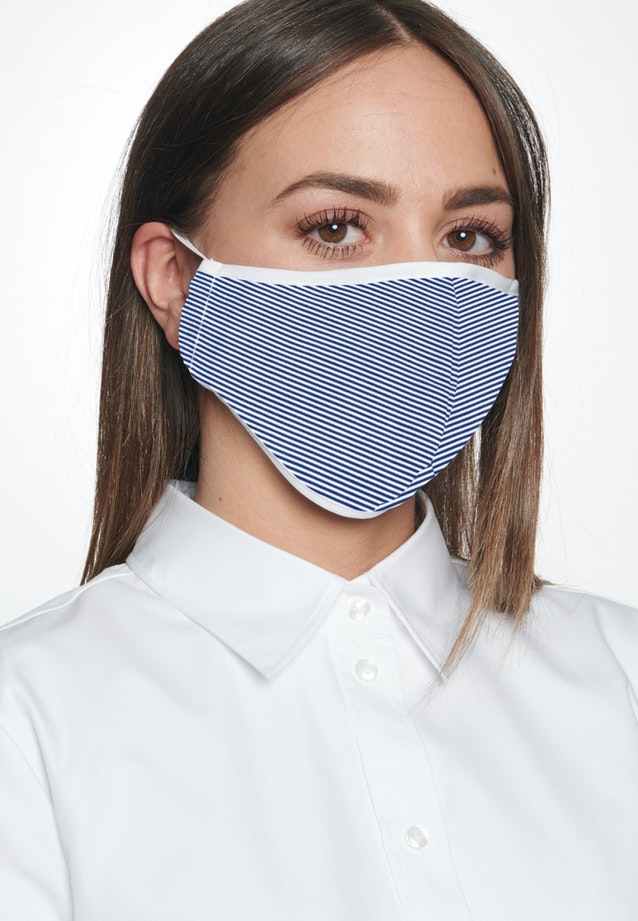 Ten-Pack Mouth and Nose Masks made of 100% Baumwolle in Medium blue |  Seidensticker Onlineshop
