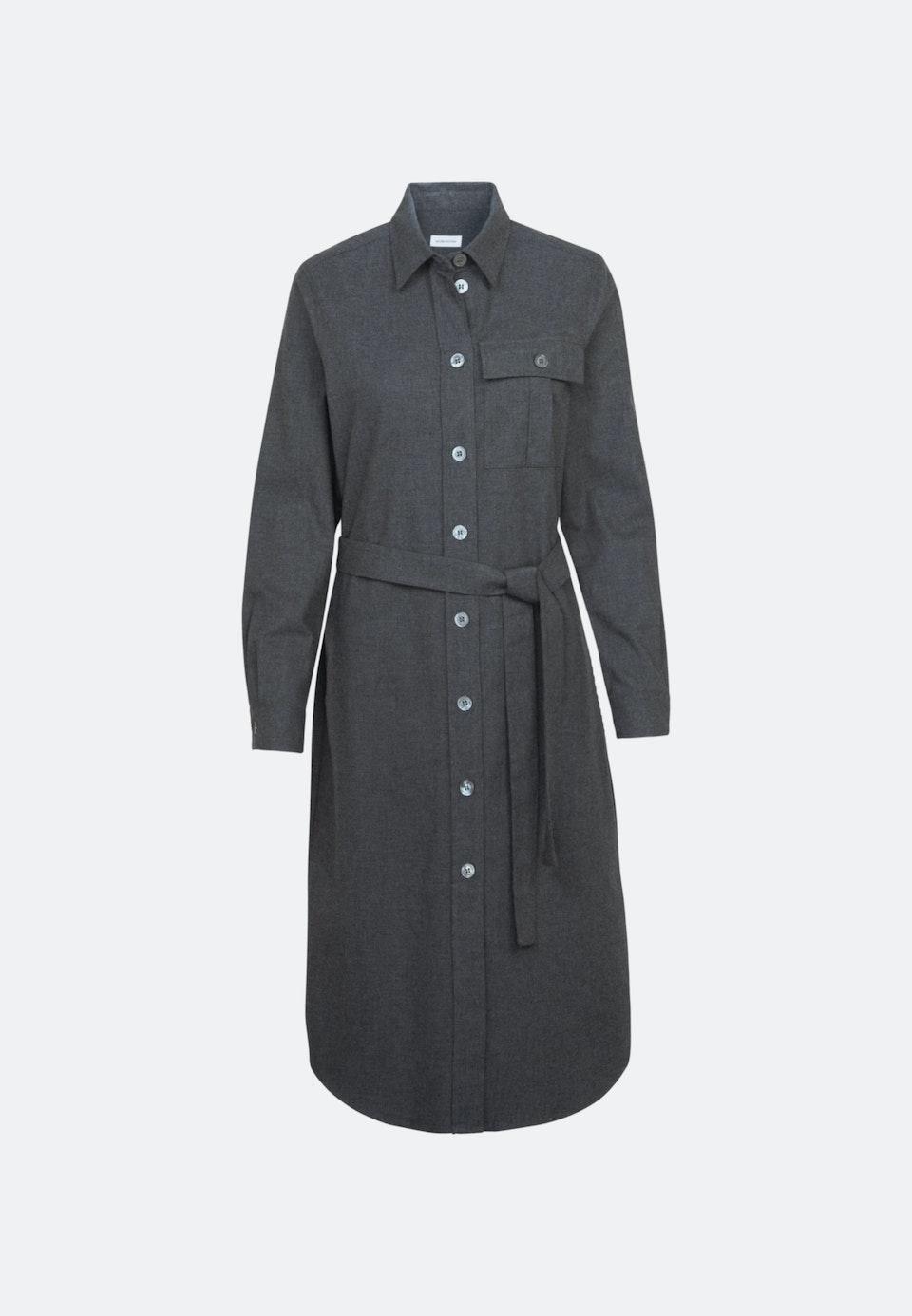 Flanell Midi Dress made of 100% Cotton in Grey |  Seidensticker Onlineshop