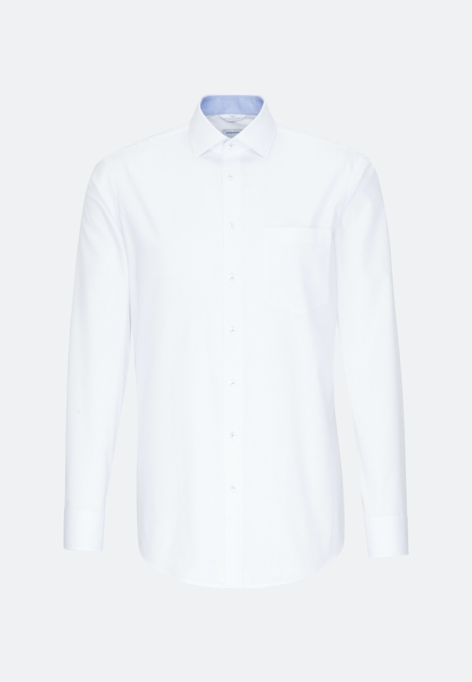 Easy-iron Oxford Business Shirt in Regular with Kent-Collar in Light blue    Seidensticker Onlineshop