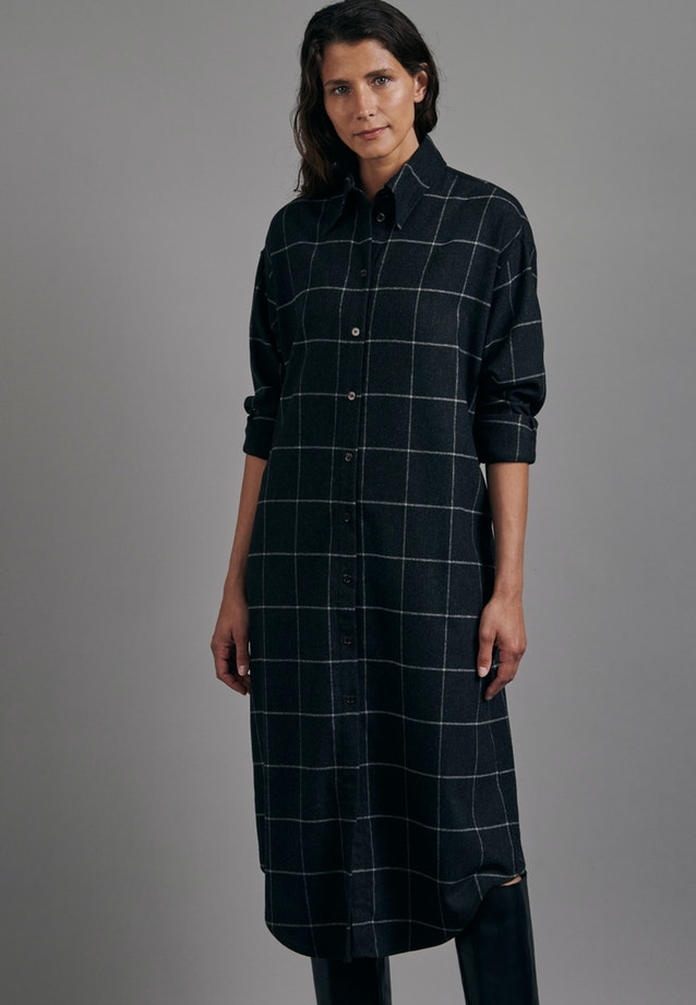 Flannel Maxi Dress made of wool blend in Grey |  Seidensticker Onlineshop