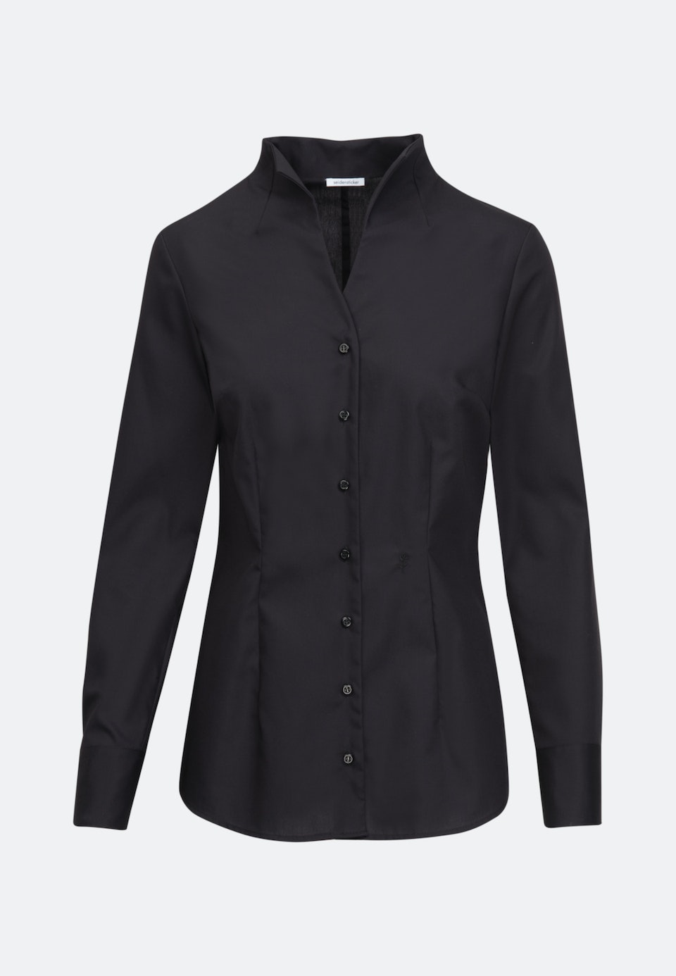 Non-iron Popeline Chalice Blouse made of 100% Cotton in Black |  Seidensticker Onlineshop