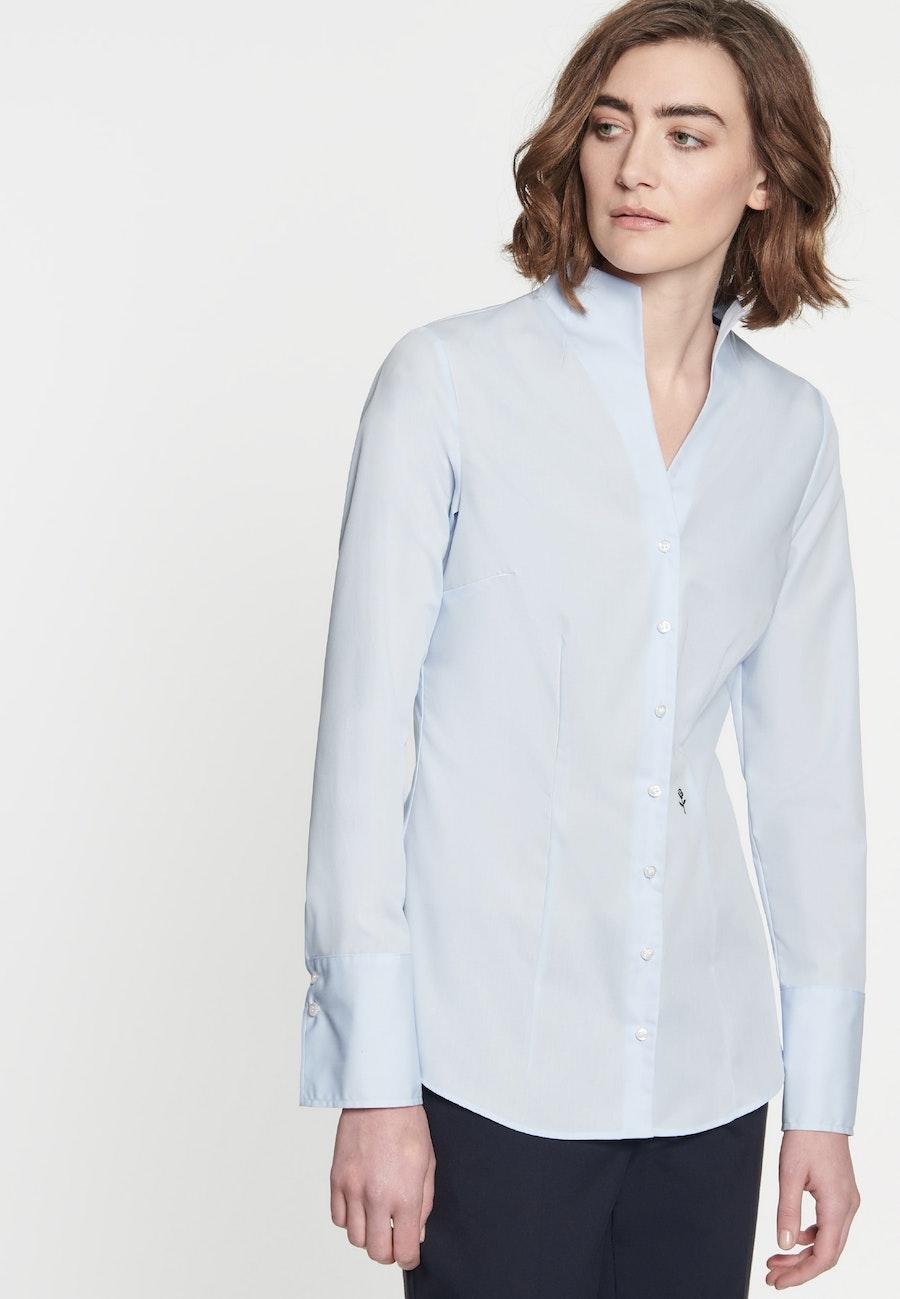 Non-iron Poplin Chalice Blouse made of 100% Cotton in Light blue    Seidensticker Onlineshop