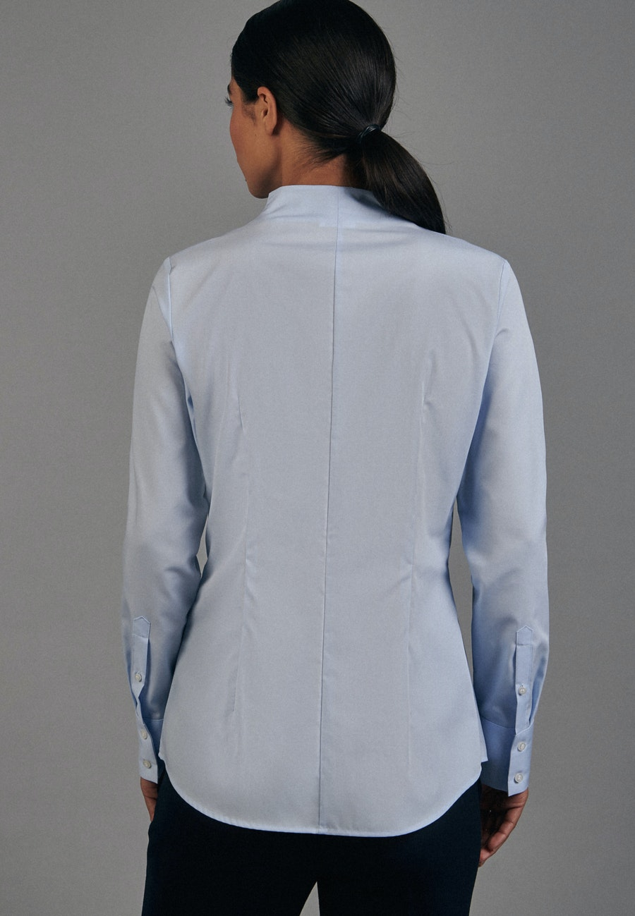 Non-iron Popeline Chalice Blouse made of 100% Cotton in Light blue |  Seidensticker Onlineshop