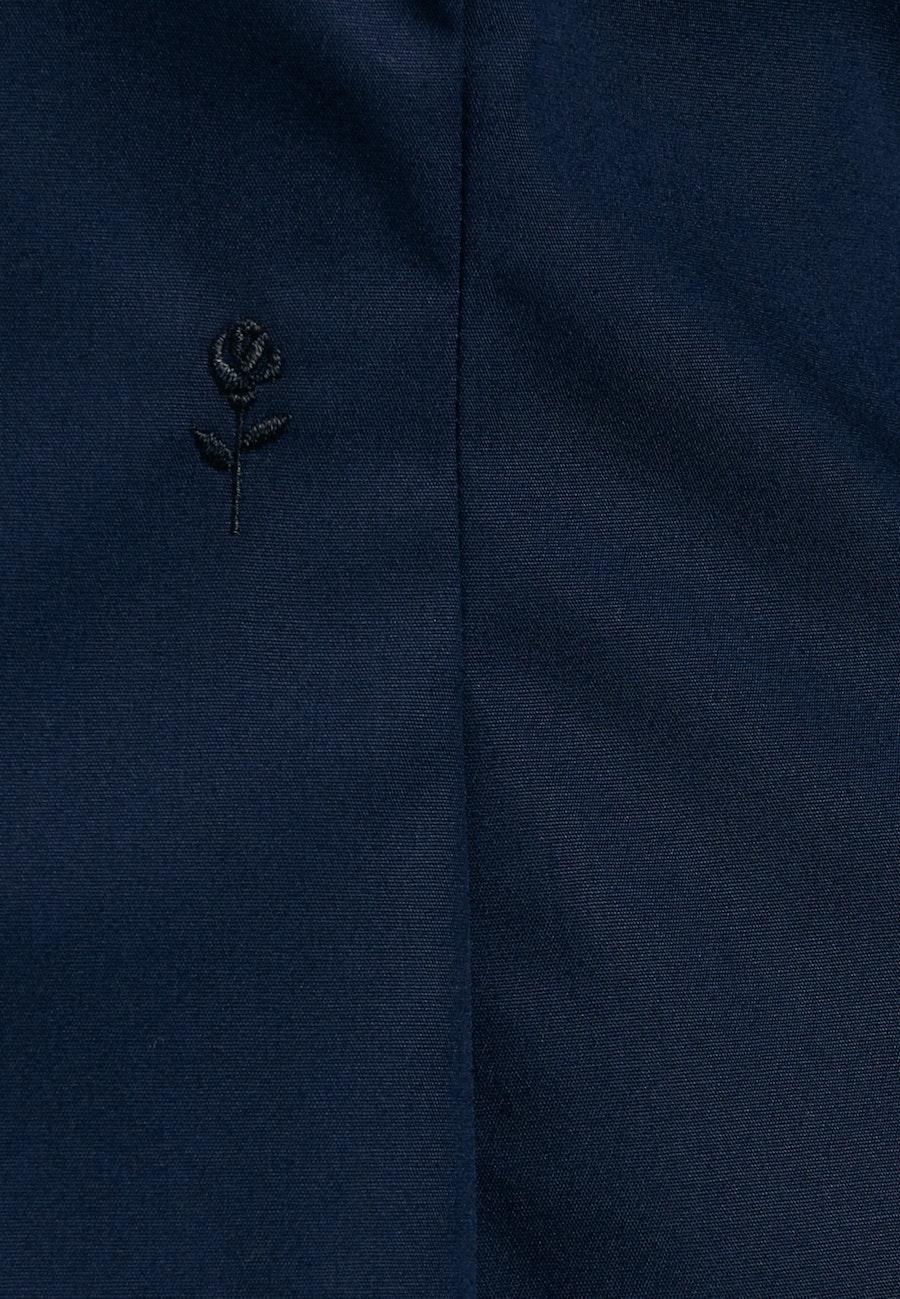 Non-iron Popeline Chalice Blouse made of 100% Cotton in Dark blue |  Seidensticker Onlineshop