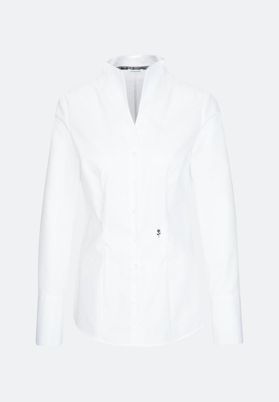 Non-iron Popeline Chalice Blouse made of 100% Cotton in White |  Seidensticker Onlineshop