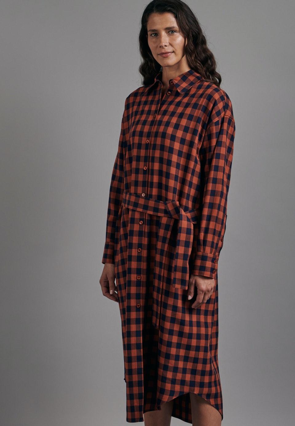 Twill Maxi Dress made of 100% Viscose in Orange    Seidensticker Onlineshop