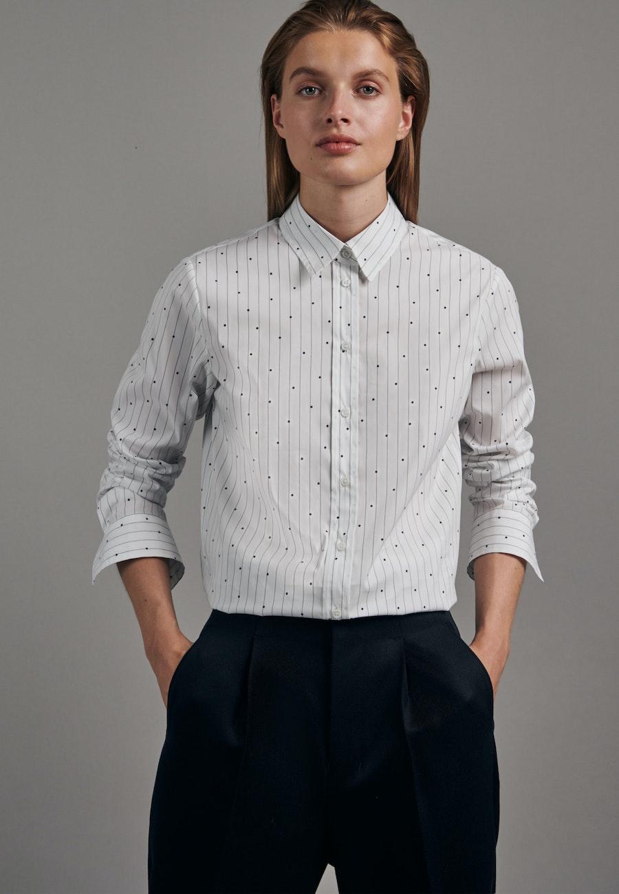 Popeline Hemdbluse aus Baumwollmischung in Weiß |  Seidensticker Onlineshop