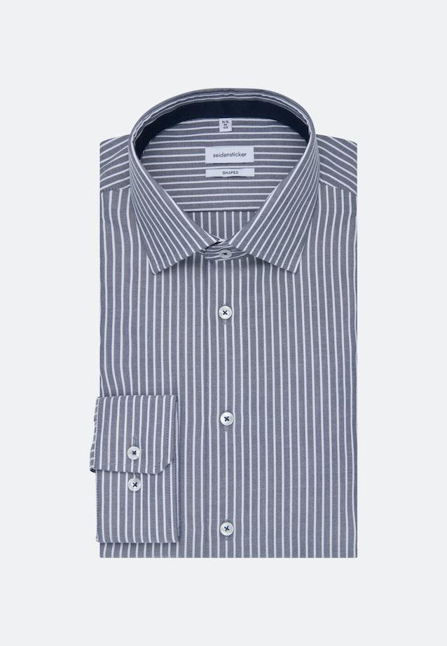 Non-iron Oxford Business Shirt in Shaped with Kent-Collar in Dark blue    Seidensticker Onlineshop