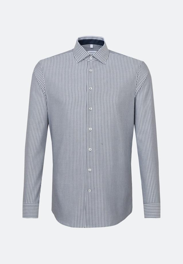 Bügelfreies Oxford Business Hemd in Shaped mit Kentkragen in Dunkelblau    Seidensticker Onlineshop