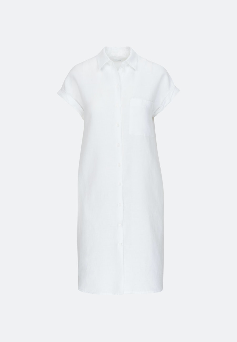 Sleeveless Linen Midi Dress made of 100% Linen in White |  Seidensticker Onlineshop
