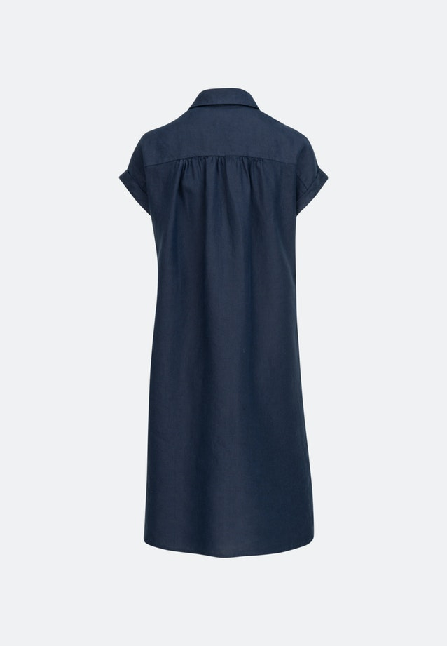 Sleeveless Leinen Midi Dress made of 100% Linen in Dark blue |  Seidensticker Onlineshop