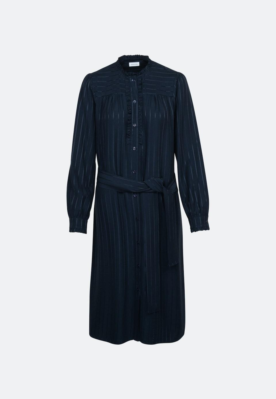 Satin Midi Kleid aus Viskosemischung in Dunkelblau |  Seidensticker Onlineshop