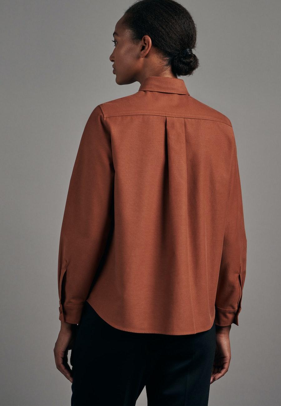 Twill Hemdbluse aus Baumwollmischung in Orange |  Seidensticker Onlineshop