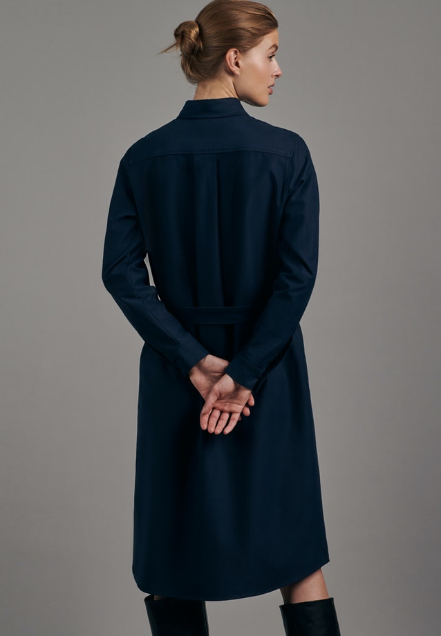 Twill Midi Dress made of cotton blend in Dark blue |  Seidensticker Onlineshop
