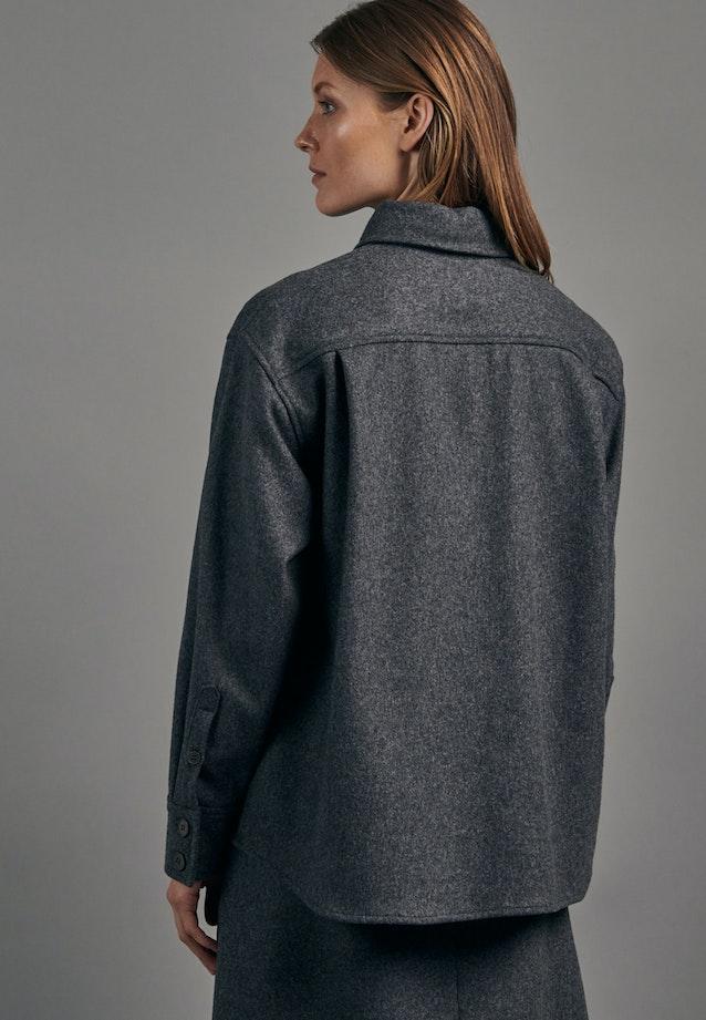 Flannel Blouse Jacket made of wool blend in Grey |  Seidensticker Onlineshop