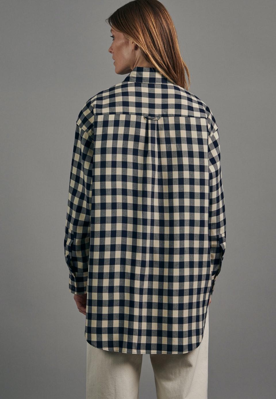 Twill Long Blouse made of 100% Viscose in Dark blue |  Seidensticker Onlineshop