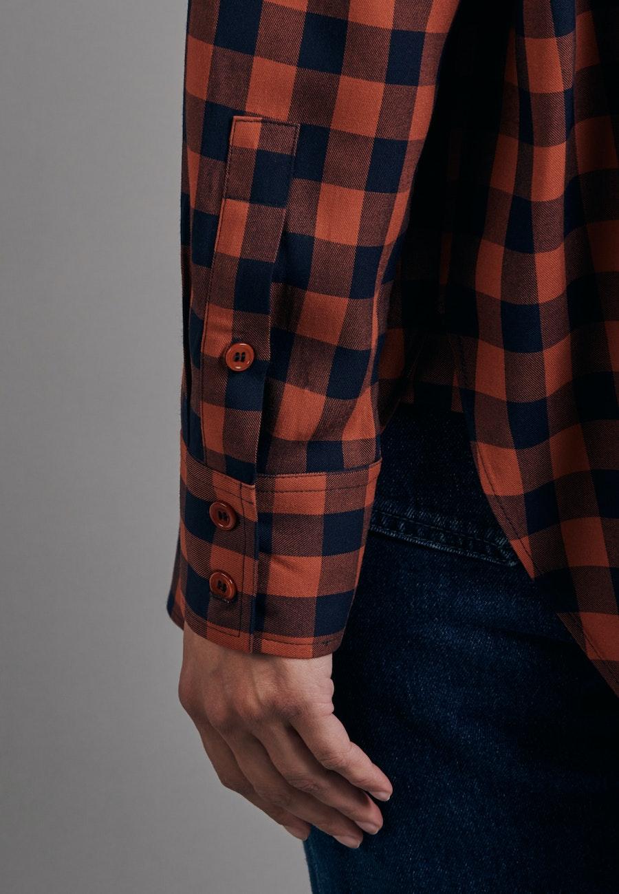 Twill Long Blouse made of 100% Viscose in Orange |  Seidensticker Onlineshop