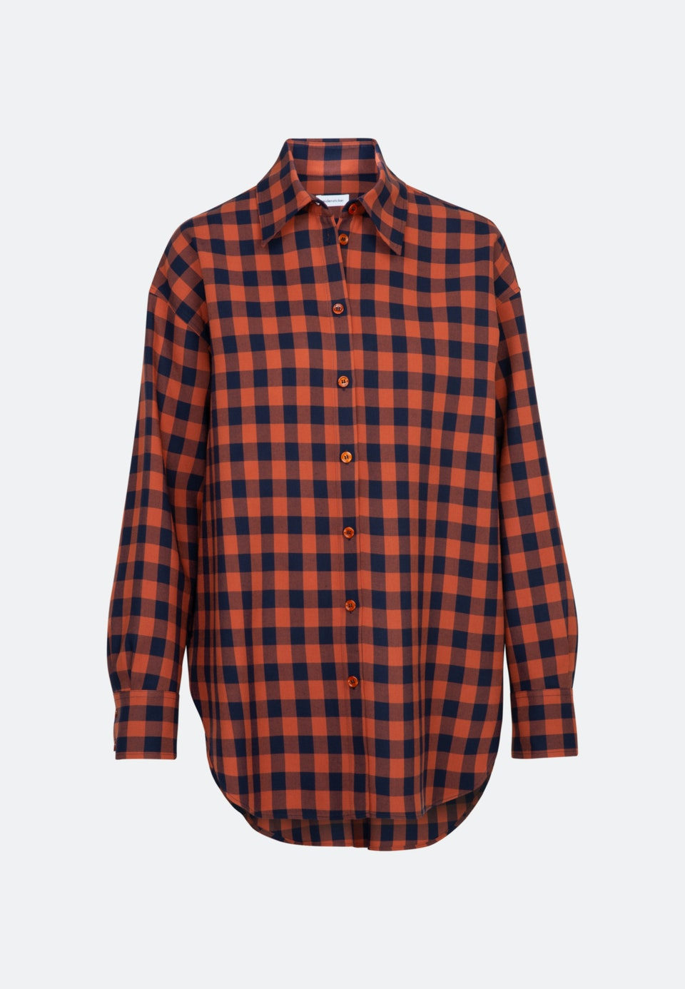 Twill Longbluse aus 100% Viskose in Orange |  Seidensticker Onlineshop