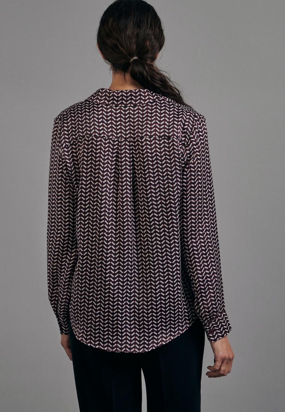 Satin Reverskragenbluse aus 100% Polyester in Rot    Seidensticker Onlineshop