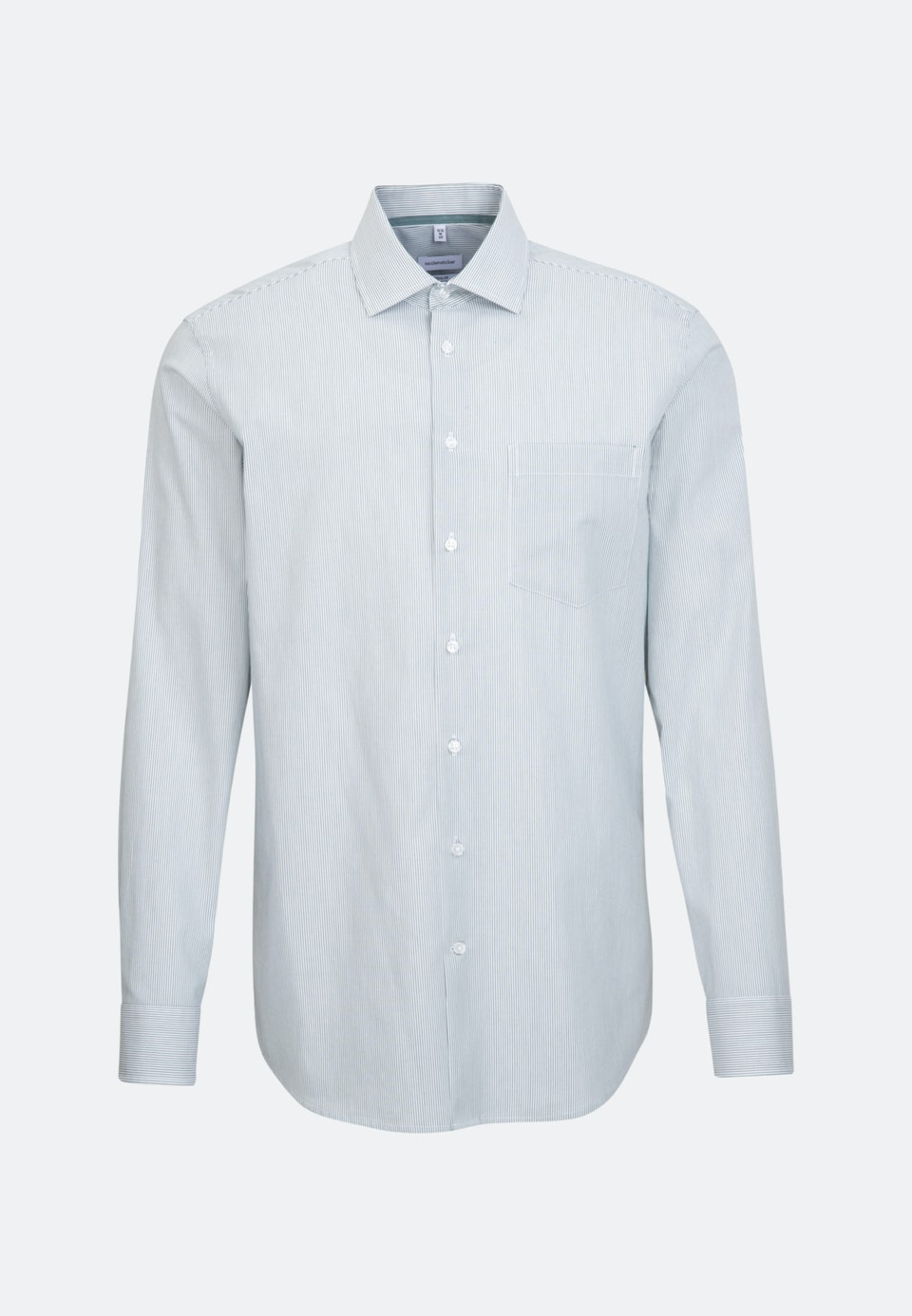 Non-iron Poplin Business Shirt in Regular with Kent-Collar in Green    Seidensticker Onlineshop