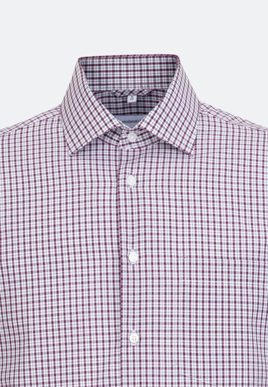 Non-iron Popeline Business Shirt in Regular with Kent-Collar in Pink |  Seidensticker Onlineshop