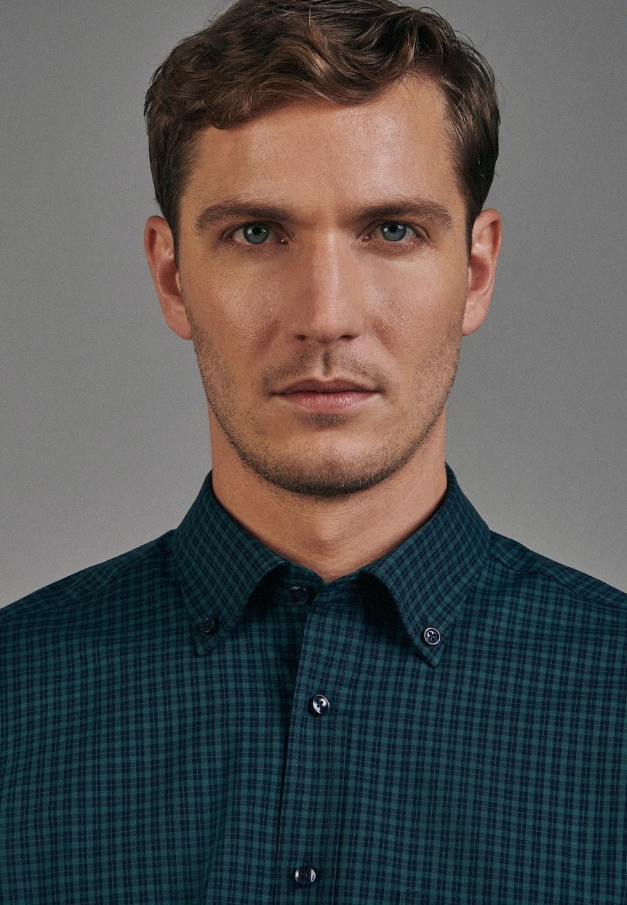 Non-iron Poplin Business Shirt in Regular with Button-Down-Collar in Green |  Seidensticker Onlineshop