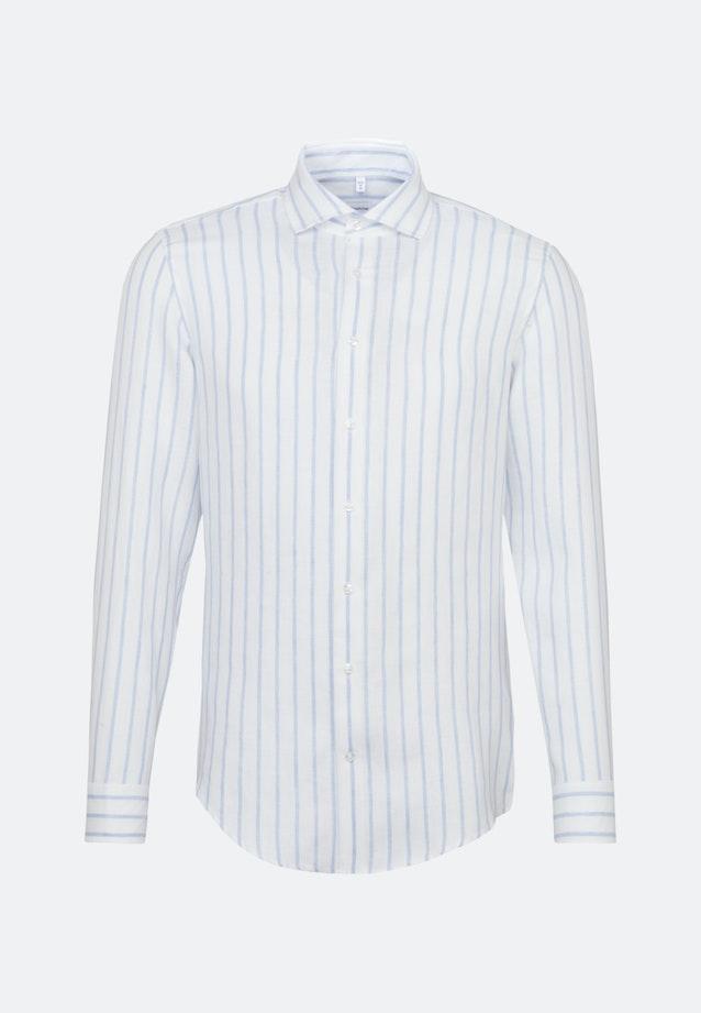 Bügelleichtes Leinen Business Hemd in Shaped mit Kentkragen in Hellblau |  Seidensticker Onlineshop