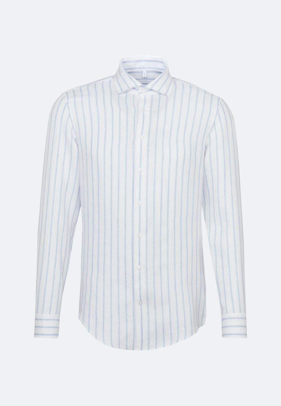 Leinen Business Hemd in Shaped mit Kentkragen in Hellblau    Seidensticker Onlineshop