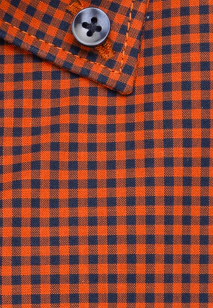 Non-iron Popeline Business Shirt in Slim with Button-Down-Collar in Orange |  Seidensticker Onlineshop