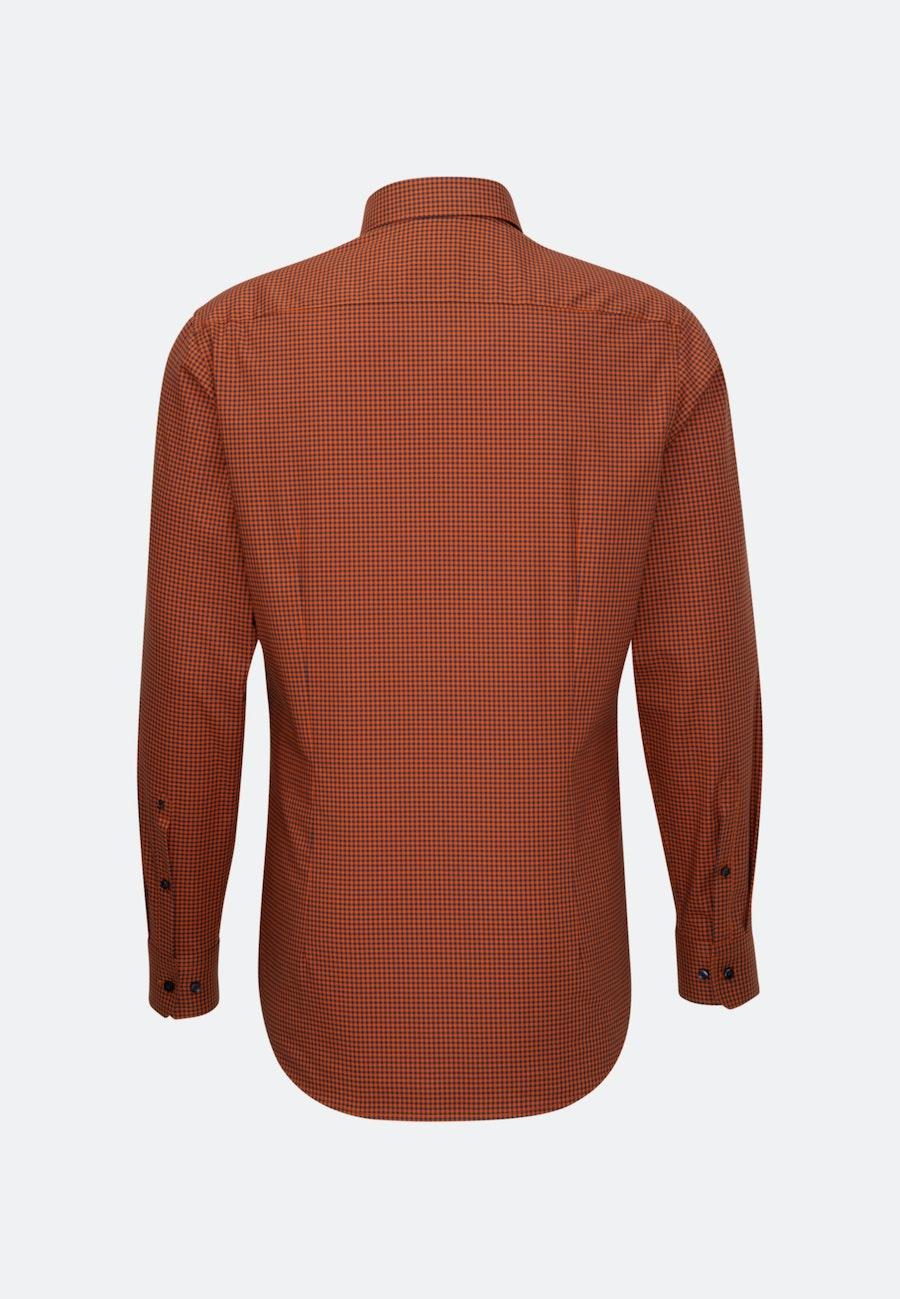 Non-iron Poplin Business Shirt in Slim with Button-Down-Collar in Orange |  Seidensticker Onlineshop