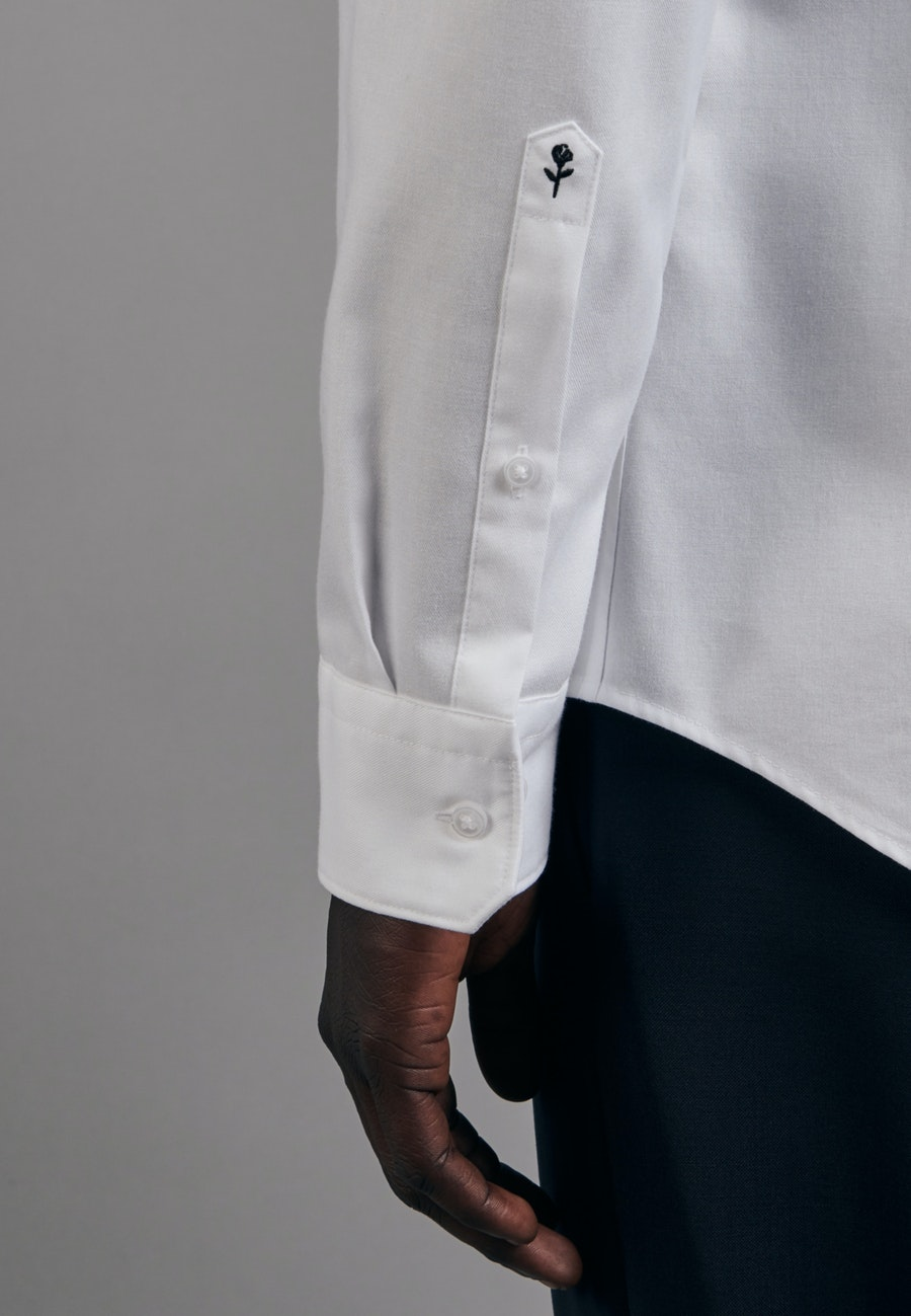 Twill Business Shirt in Slim with Stand-Up Collar in White |  Seidensticker Onlineshop