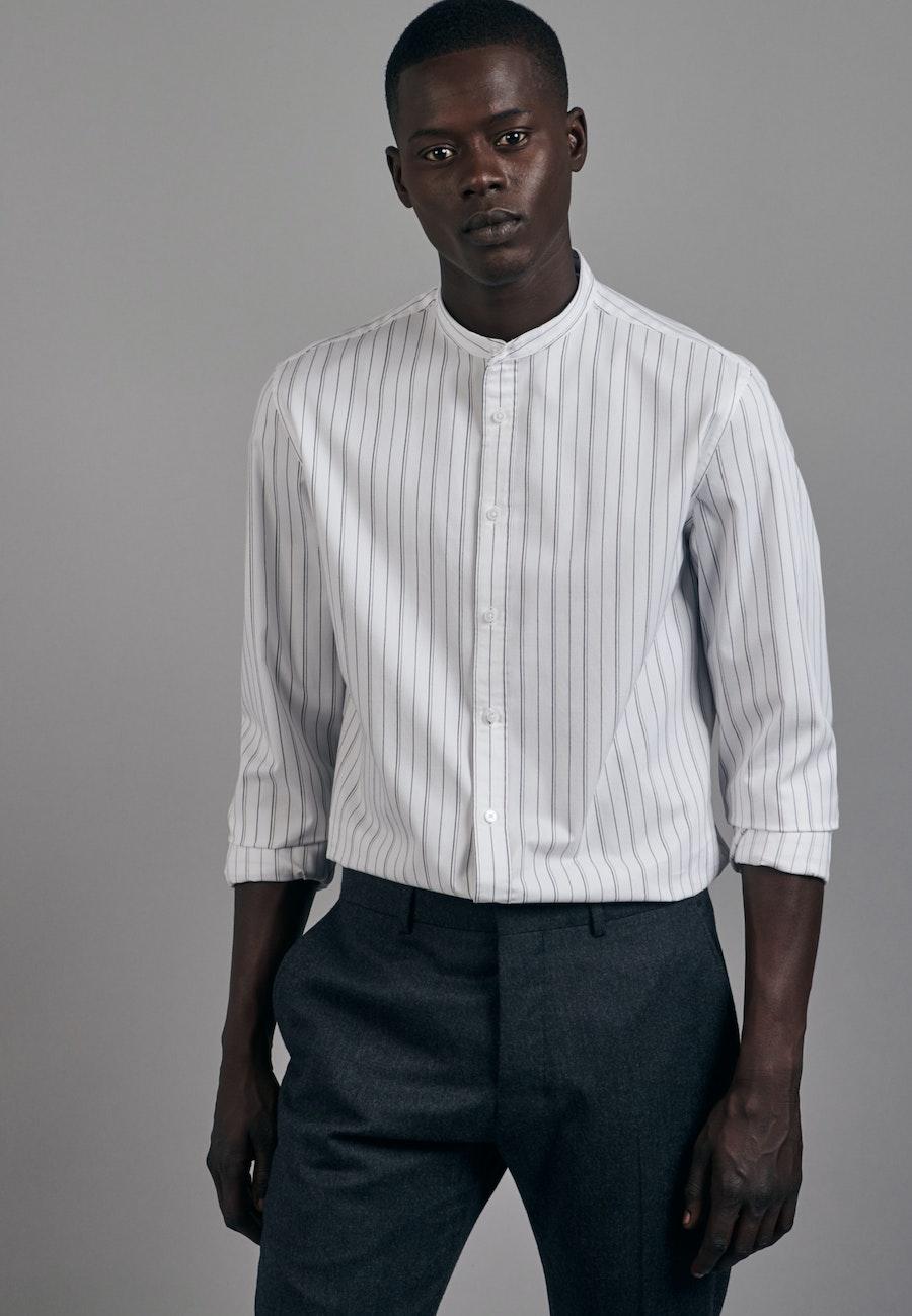 Twill Business Hemd in Slim mit Stehkragen in Weiß |  Seidensticker Onlineshop