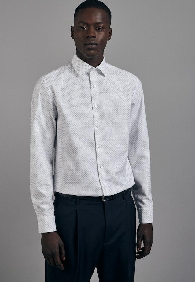 Bügelleichtes Oxford Business Hemd in Slim mit Kentkragen in Weiß |  Seidensticker Onlineshop