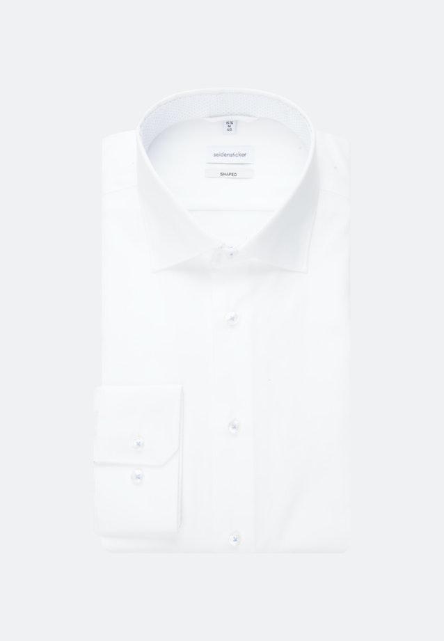 Bügelfreies Oxfordhemd in Shaped mit Kentkragen in Weiß    Seidensticker Onlineshop