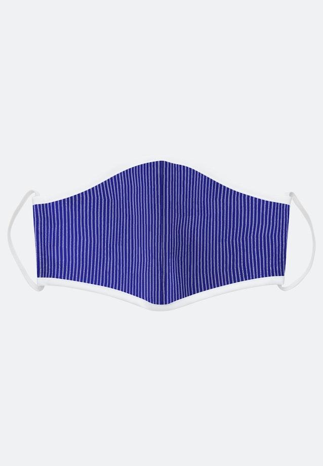5er-Pack Mund-Nasen-Masken aus 100% Baumwolle in Mittelblau    Seidensticker Onlineshop