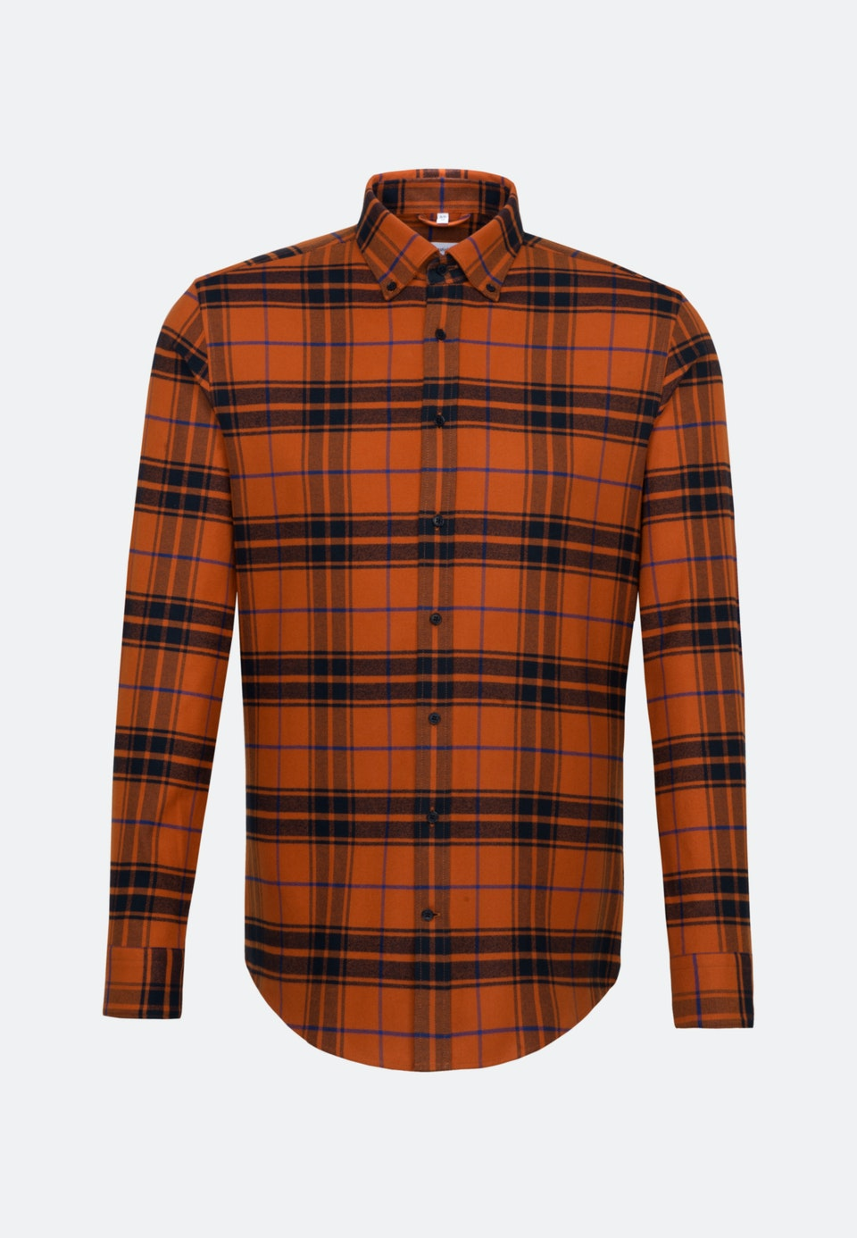 Flanell Business Shirt in Regular with Button-Down-Collar in Orange |  Seidensticker Onlineshop