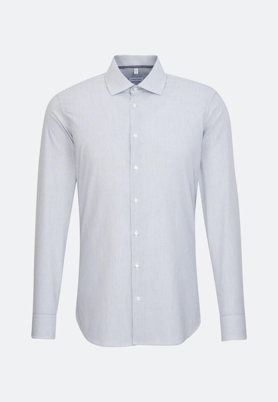 Non-iron Popeline Business Shirt in X-Slim with Kent-Collar in Dark blue    Seidensticker Onlineshop