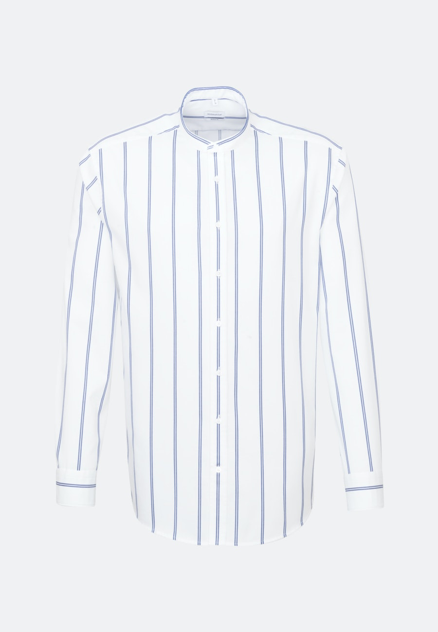 Easy-iron Twill Business Shirt in Regular with Stand-Up Collar in White |  Seidensticker Onlineshop