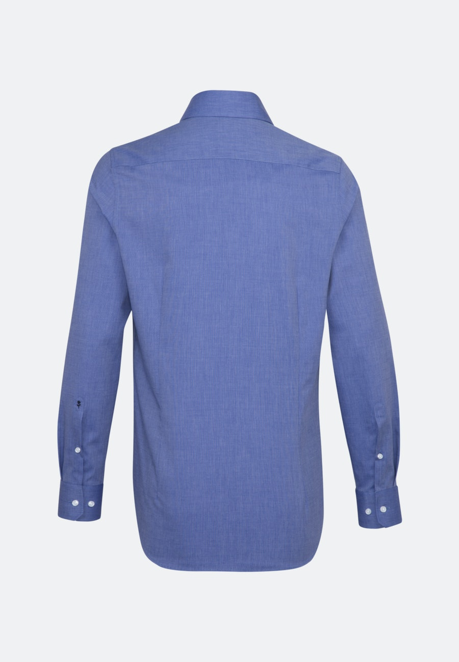 Non-iron Fil a fil Business Shirt in Shaped with Kent-Collar in Medium blue |  Seidensticker Onlineshop