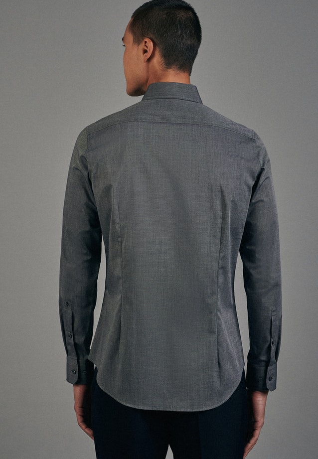 Non-iron Fil a fil Business Shirt in Slim with Kent-Collar in Grey |  Seidensticker Onlineshop