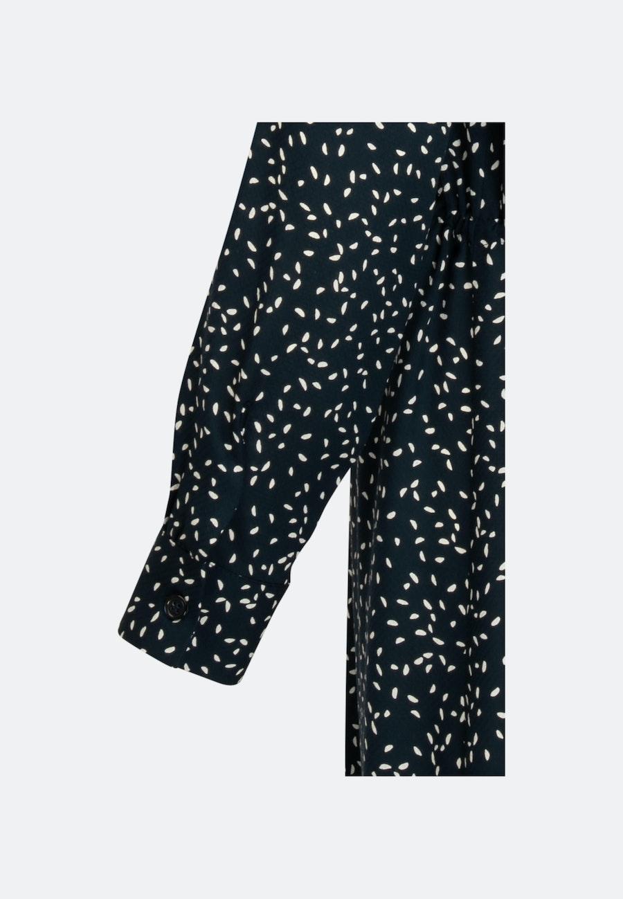 Jacquard Midi Dress made of 100% Viscose in Dark blue |  Seidensticker Onlineshop