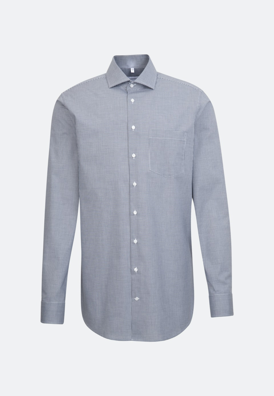 Bügelfreies Popeline Business Hemd in Regular mit Kentkragen und extra langem Arm in Dunkelblau    Seidensticker Onlineshop