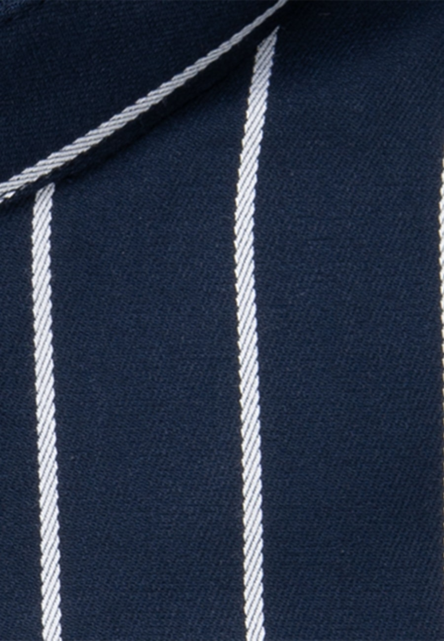Non-iron Twill Business Shirt in Shaped with Stand-Up Collar in Dark blue |  Seidensticker Onlineshop